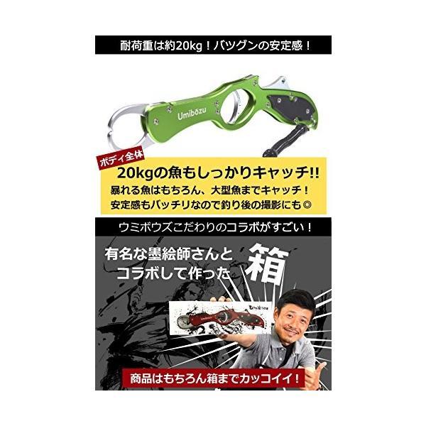 Umibozu(ウミボウズ) フィッシュグリップ 超軽量 アルミ製 魚掴み器 フィッシュキャッチャー (メタルシルバー)|happysmiles|05