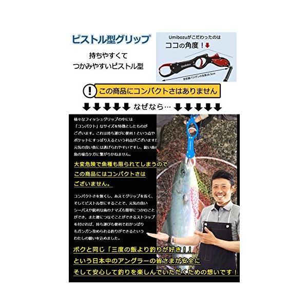 Umibozu(ウミボウズ) フィッシュグリップ 超軽量 アルミ製 魚掴み器 フィッシュキャッチャー (メタルシルバー)|happysmiles|06