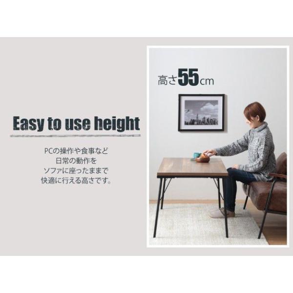こたつセット おしゃれ 長方形 2点セット 120×60cm+保温綿入り掛布団チェック柄 継ぎ脚付き古材風アイアンこたつテーブル ハイタイプ