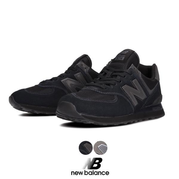 ニューバランス New Balance NB Classic Running ML574 EGG ETE レディース メンズ  シューズ 靴 スニーカー Nロゴ グレー オールブラック
