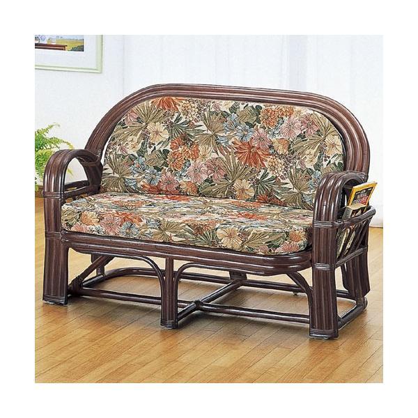 2人掛け籐ソファ 幅120cm y650b 籐家具 籐 ラタン家具 ラタン 椅子 チェア ソファー ソファ 籐椅子 2人掛け