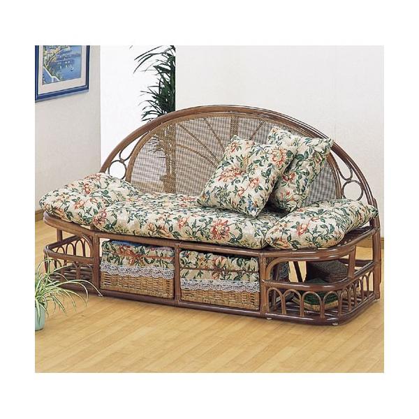 2人掛け籐カウチソファ 幅143cm y888 籐家具 籐 ラタン家具 ラタン ラタン製 椅子 チェア ソファー ソファ
