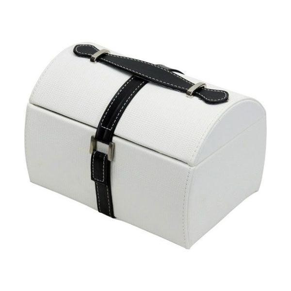 アクセサリーボックス ホワイト 91024 幅212 奥行154 高さ140mm 雑貨 コスメ収納 アクセサリー収納|harda-kagu|02