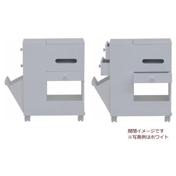 アクセサリーケース 多収納 スリム コスメボックス ワゴン ホワイト 鏡台 ミラー ドレッサー チェスト かわいい おしゃれ 化粧台 メイクボックス|harda-kagu|05
