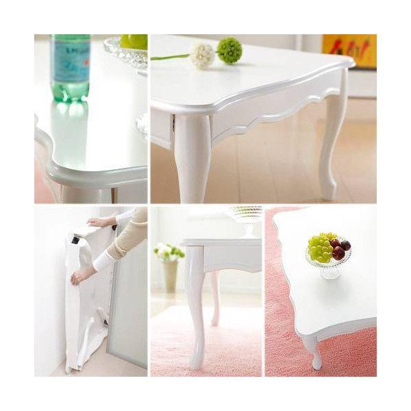 完成品 折れ脚テーブル 猫脚 Lisana リサナ 120×75cm 折りたたみテーブル テーブル 猫足 ローテーブル センターテーブル リビングテーブル ねこ足 harda-kagu 02