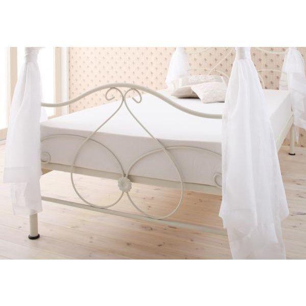姫系ベッド アイアンベッド Elise エリーゼ ベッドフレームのみ 天蓋付きベッド ボンネルコイルマットレス付き シングルベッド ベッド ベット ロマンティック ホ|harda-kagu|04