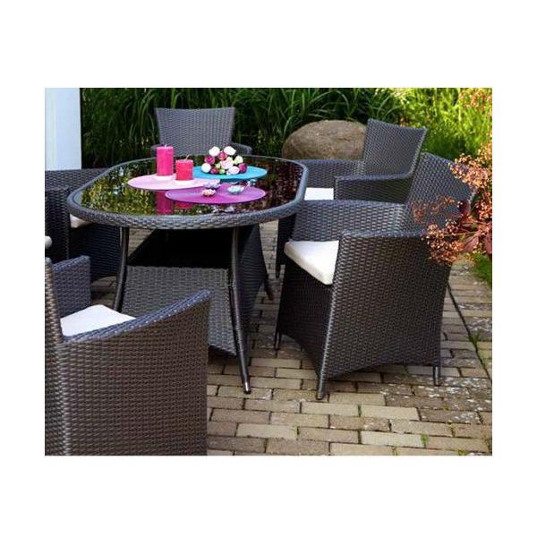 高級人工ラタン ガーデンチェア テーブル 5点セット  人工ラタン ウィッカー ガーデンファニチャー 08BT-S5 送料無料