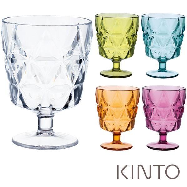 キントー23152TRIAワイングラスクリア・ピンク・オレンジ・イエローグリーン・ブルーグリーン270mlギフト袋対象