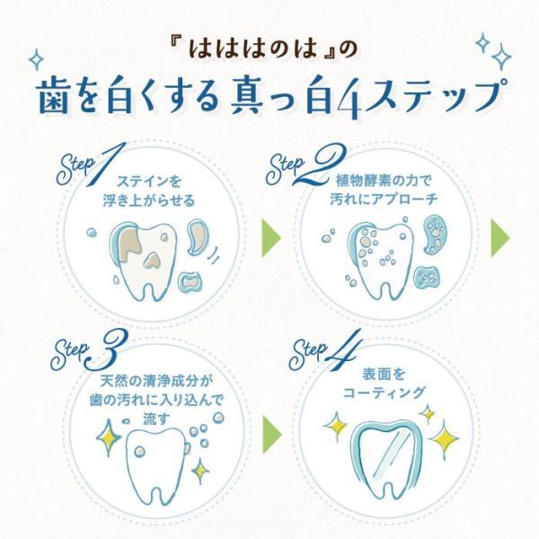 ホワイトニング歯磨き粉 はははのは | ホワイトニング 歯磨きジェル ホームホワイトニング 歯 歯を白くする 歯みがき粉 オーガニック 黄ばみ 送料無料 30g|hareruya-official|06