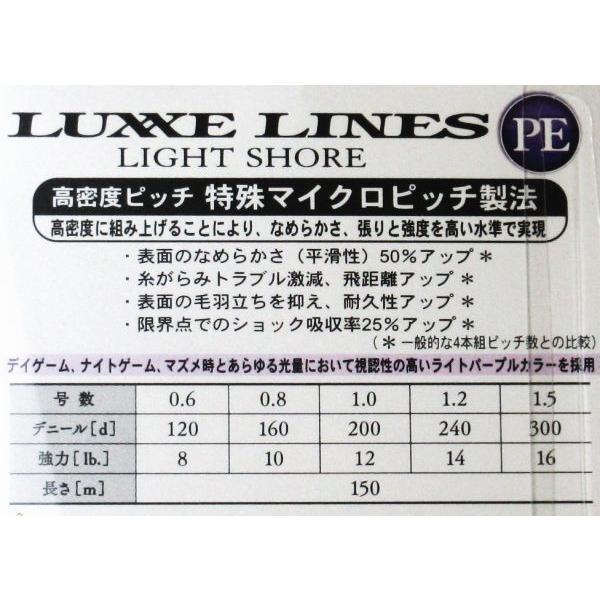 がまかつ ラグゼ ライトショア PEライン 150m 1.5号 送料164円|haroweb2|03