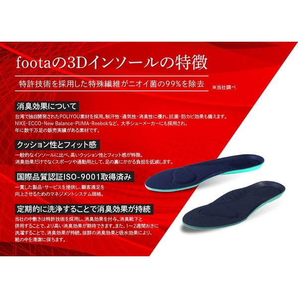消臭 3Dインソール(中敷き) 足の臭い対策 foota haruchisyoutengai 03