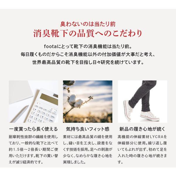 消臭 靴下 スニーカー丈五本指ソックス 足の臭い対策 foota|haruchisyoutengai|09