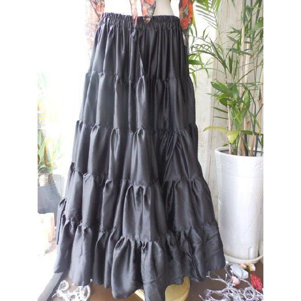 25ヤード シルク サテン スカート 黒 :IND3830S SB:Costume Shop