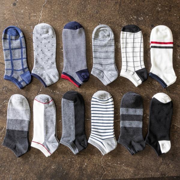 5足 セット メンズ スニーカーソックス メンズ くるぶし ショート ソックス 靴下 23〜29 cm 大きいサイズ|harusaku|02