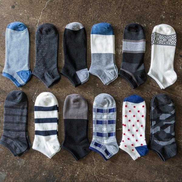 5足 セット メンズ スニーカーソックス メンズ くるぶし ショート ソックス 靴下 23〜29 cm 大きいサイズ|harusaku|03