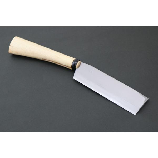 鋼付両刃鉈 165mm 木製サヤ付 hasami8338