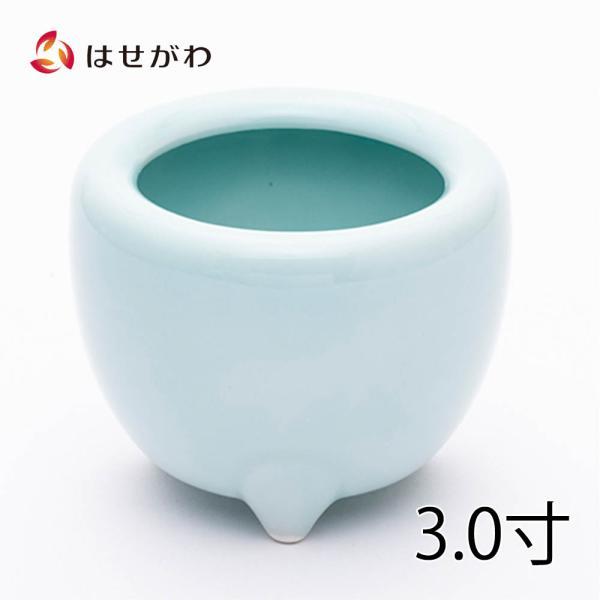 香炉 青磁 土香炉 浄土真宗本願寺派用 西 仏具「香炉 青磁 西用 3.0」お仏壇のはせがわ
