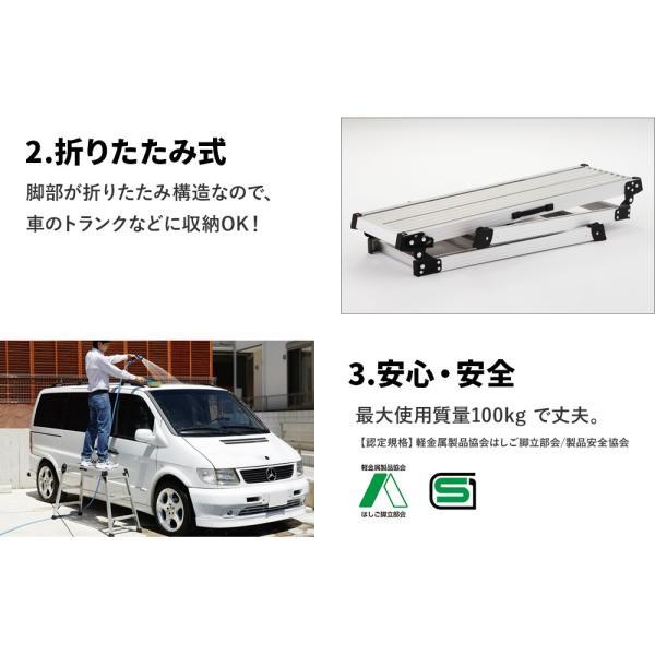 DRX2.0-1098 足場台 洗車台 作業台 折りたたみ式 長谷川工業 hasegawa|hasegawa-select|04