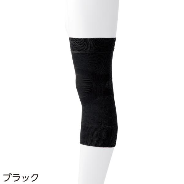 日本製 膝 サポーター サポートまる ひざ用 保温 M L ナノセラミック ナノカーボン 段階着圧 血行促進 保温 冷えが原因|hashbaby|06