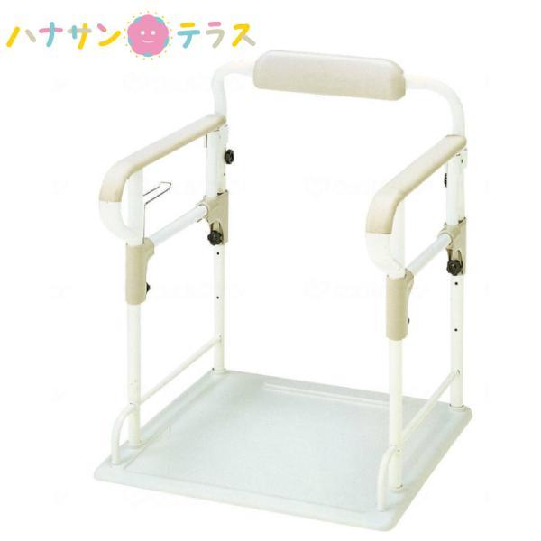 ポータブルトイレ用 フレーム ささえ 533-070 アロン化成 手すり 歩行補助 立ち上がり補助 転倒防止 介護 トイレ 補助 立ち上がり 補助手摺 据え置き型
