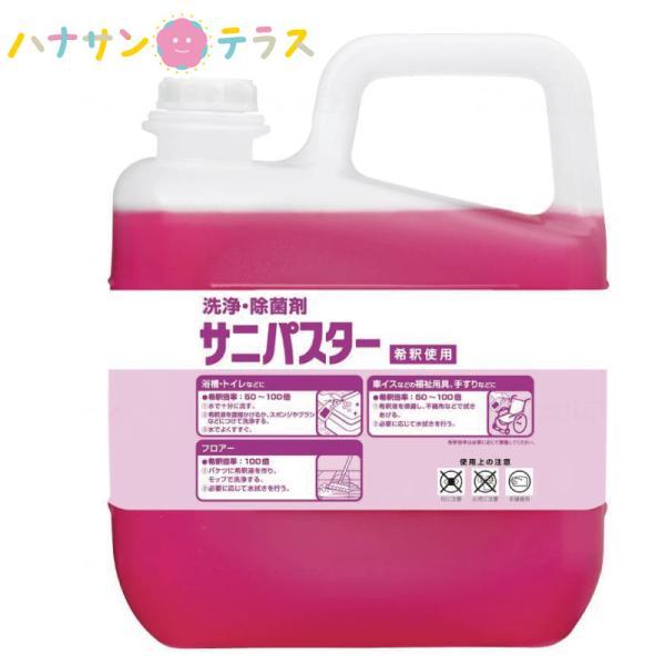 洗浄 除菌剤 サニパスター 5kg サラヤ お風呂 浴槽 浴室 トイレ フロア 洗剤 洗浄剤 大容量 業務用 詰め替え 用 洗浄 除菌 抗菌 手すり