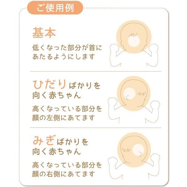 ベビー枕 ドーナツ形 頭のかたちをよくするまくら 日本製 洗濯可能 エアーパイプ ラッピング可  ネコポス対応送料無料 代引き不可 日時指定不可 hashbaby 03