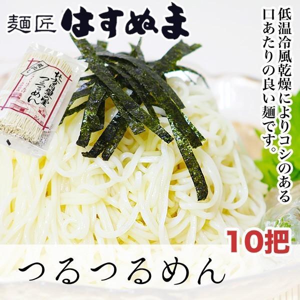 乾麺/頑固一徹な麺匠が作るこだわりの乾麺/低温冷風乾燥によりコシのある口あたりのよいつるつるめん/ギフトにおススメ/つるつるめん 10把|hasunuma-seimen