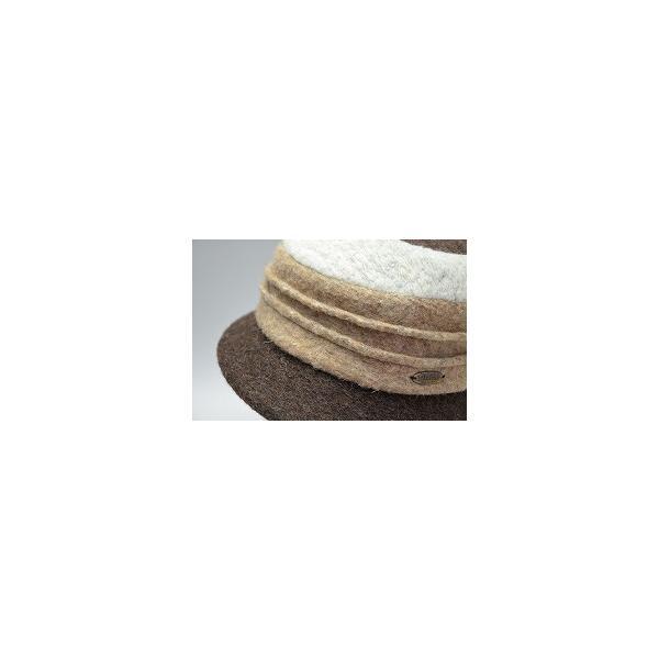 レディースハット 婦人帽子 女性 秋冬 フェルト クロッシェ ニット帽 イタリア ダレーナdalena 圧縮ウールクロッシェ ブラウン ネイビー ブラック DRN-4075