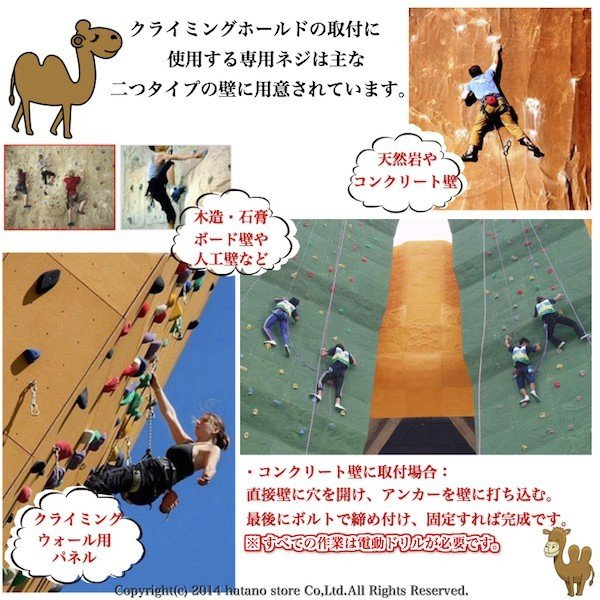 スポーツクライミングホールド 大中小40個セット トレッキング 登山用品 ボルダリング ボルト/アンカー/レンチ/ワッシャー/爪付ナット|hatano-store|03