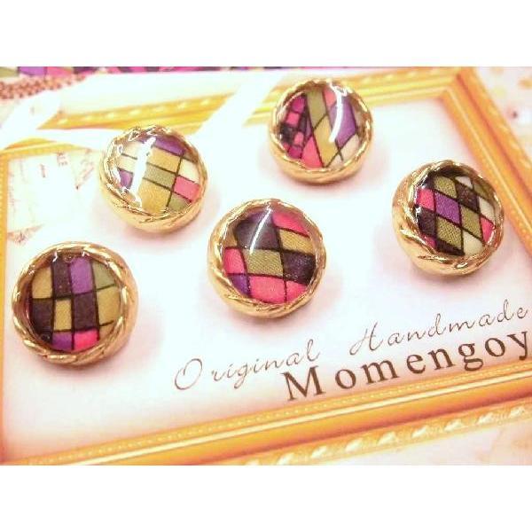 Original Handmade「Momengoya」リバティのボタン No.7 13mm 5個入  手芸 手作り 洋裁|hatawa-koko|02