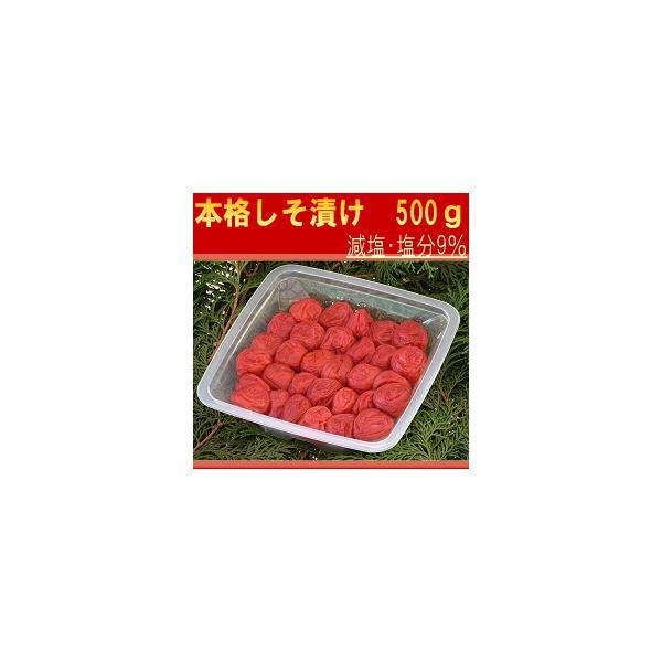 しそ梅干し(赤紫蘇 梅干し)  特選2Lサイズ はてなしシリーズ 本格しそ漬け(塩分9%) 500g hatenasi