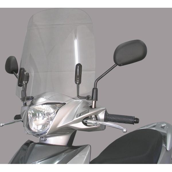旭風防 ウインドシールド AD-33 (スズキ ADDRESS アドレス110(EBJ-CE47A) シールド バイク用)|hatoya-parts-nb