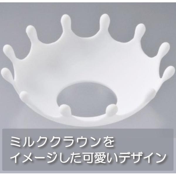 ダイヤ ミルクハット(電子レンジで牛乳を温める時の吹きこぼれを防ぐ) < hatsumei-net 02