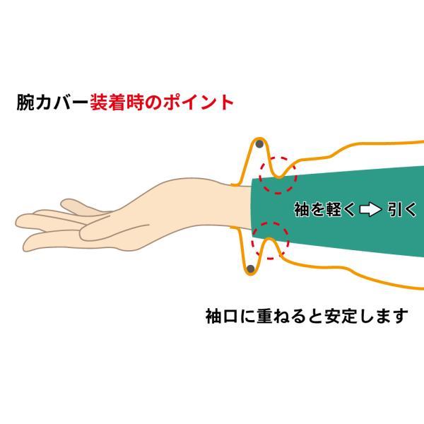 リング付 腕カバー「ぬれないわ」 NHK「まちかど情報室」で紹介されました 送料¥250(3個まで) アームカバー 洗顔 袖 濡れない|hatsumei-net|05