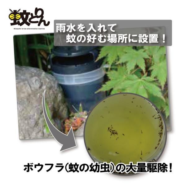 (ジカ熱 デング熱 チクングニア熱対策 ボウフラ駆除) 蚊とりん hatsumei-net 02