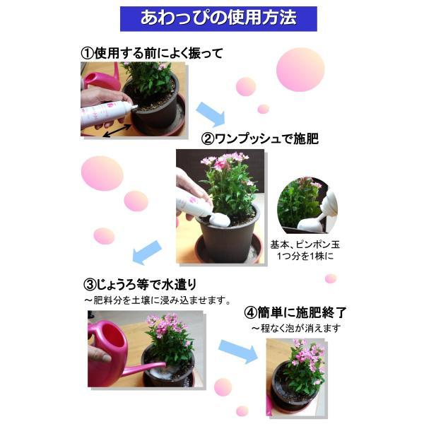 awappi 泡で出てくる簡単液肥 110g (あわっぴ 100回分)|hatsumei-net|03