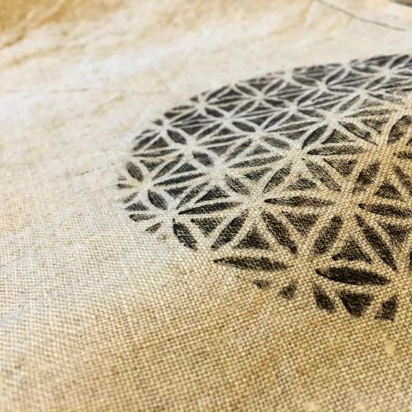 最高品質国内縫製ヘンプ 女性用越中ふんどし フラワーオブライフ 麻炭パウダー 送料無料|hatsunet|02
