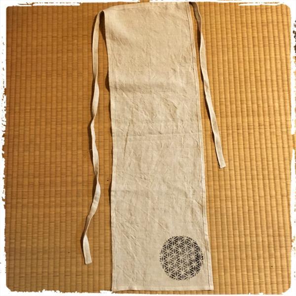 最高品質国内縫製ヘンプ 女性用越中ふんどし フラワーオブライフ 麻炭パウダー 送料無料|hatsunet|03