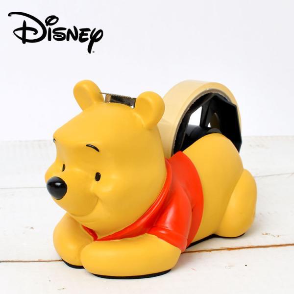 テープカッター おしゃれ かわいい くまのプーさん セロハンテープ 台 スタンド 卓上 セロテープ デスク用品 文房具 プーさん プレゼント セトクラフト 黄色