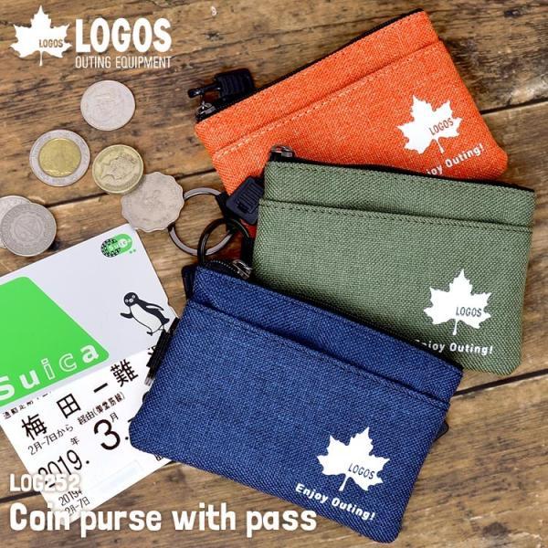 コインケースパスケースキーケースLOGOSロゴスメンズコインポーチ小銭入鍵入れカードケース定期入れ通学通勤財布おしゃれシンプル