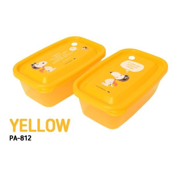 弁当箱 女子 大人 2個セット L 650ml 保存容器 角型 日本製 プラスチック セット 子供 男の子 女の子 スヌーピー キャラクター|hauhau|09