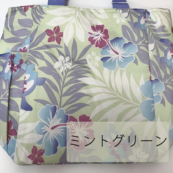 保冷バッグ ハワイアン 保温 保冷 エコバッグ ハワイ ハイビスカス ホヌ 【Mサイズ】