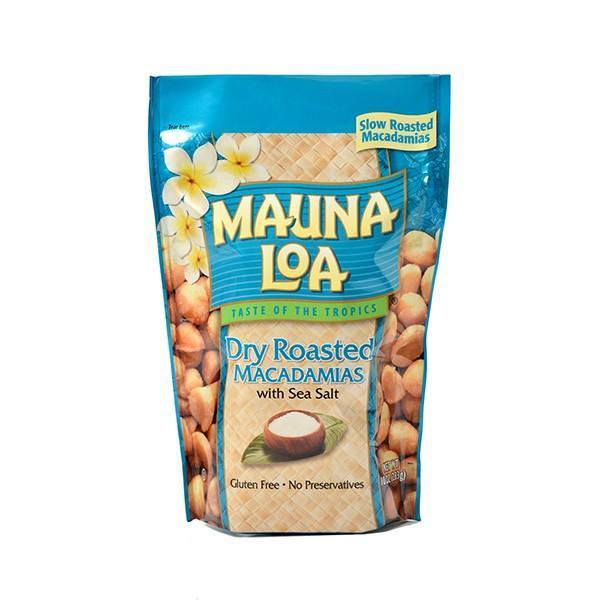 ハワイお土産 マウナロア 塩味マカデミアナッツ Lサイズ 283g|ハワイアンホースト