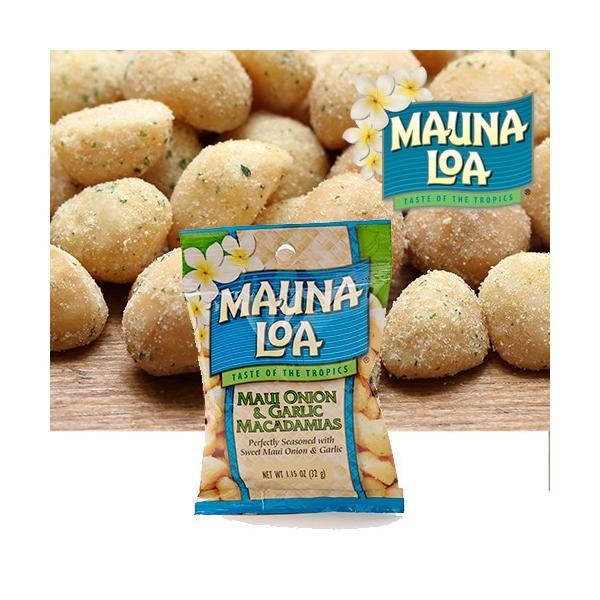 ハワイお土産 マウナロア マウイオニオン&ガーリックマカデミアナッツ Sサイズ 32g|ハワイアンホースト
