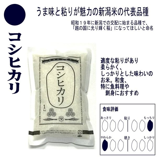お米 コシヒカリ 新之助 こしいぶき つきあかり 華麗舞 各1kg(5kg) 食べ比べセット haya-kome 02