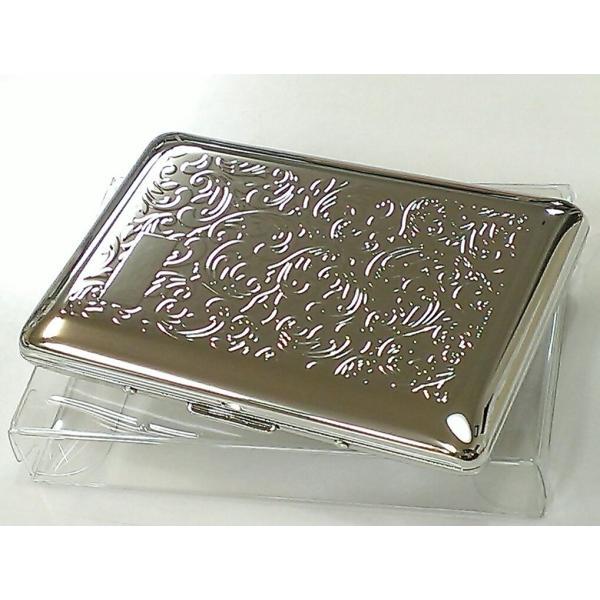 名刺入れダブルカードケースシルバーアラベスク綺麗な名刺ケースメンズレディース