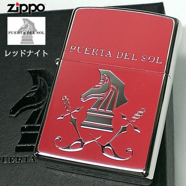 ZIPPO ジッポ PUERTA DEL SOL プエルタ デル ソル レッドナイト 赤&銀鏡面 可愛い メンズ ブランド ジッポーライター プレゼント ギフト
