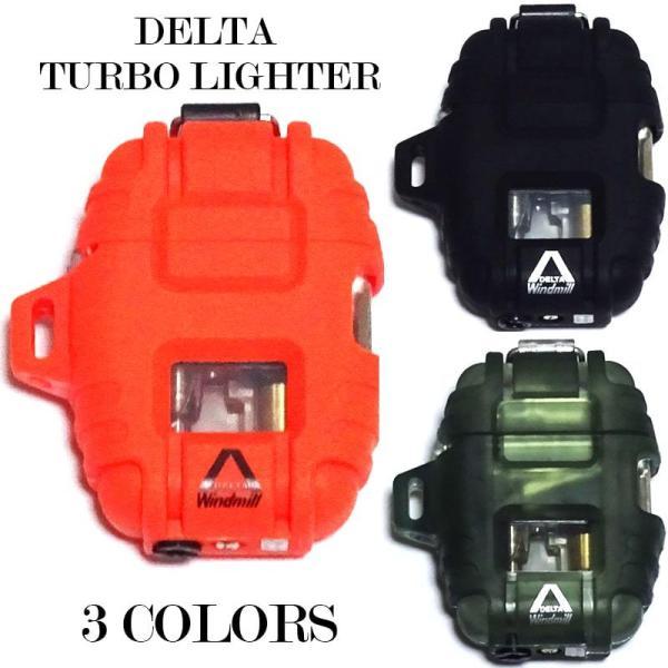 ターボライター デルタ 3カラー ガスライター ブレイズオレンジ ブラック グリーンスモーク ライター 日本製 アウトドア キャンプ かっこいい メンズ ギフト