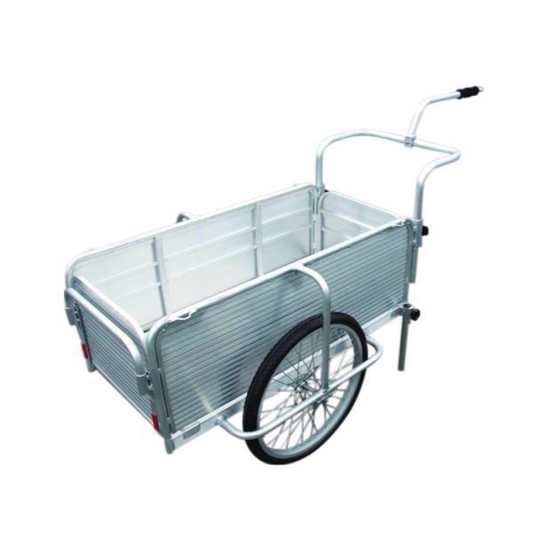 自転車で引けるアルミ製折りたたみ式リヤカー SMC-10C 昭和ブリッジ販売 [リヤカー 運搬器具 園芸用品 ガーデニング 農業 ]