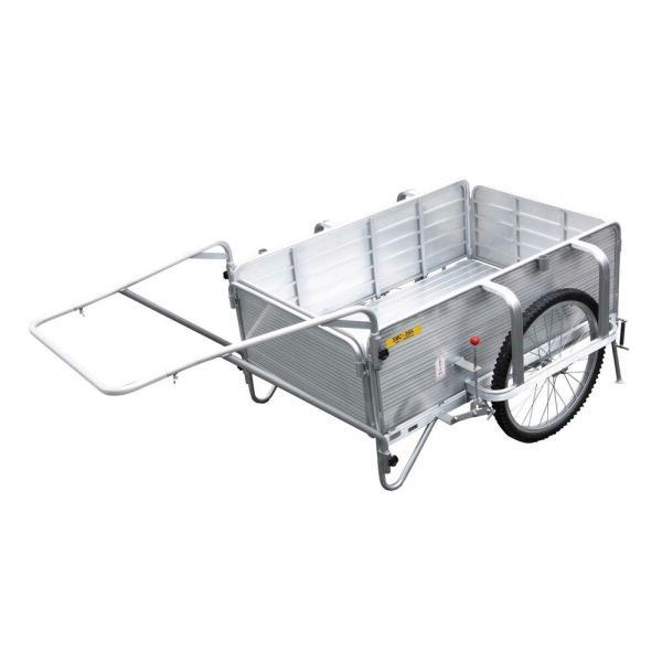 アルミ製折りたたみ式リヤカー SMC-3BS 昭和ブリッジ販売 [リヤカー 運搬器具 園芸用品 ガーデニング 農業 ]